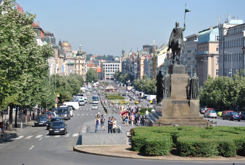 Prága látnivalók - Vencel tér - Václavské náměstí