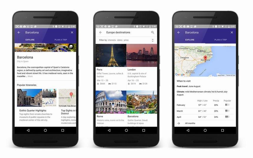 google travel planner
